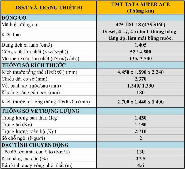 Xe tải 1t2 tata super nhập khẩu Ấn Độ 9