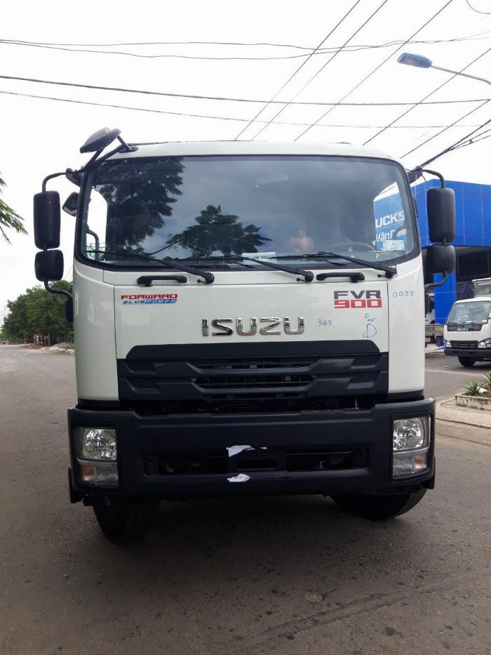 Xe tải ISUZU tải 8 tấn thùng mui bạt bửng nhôm dài 8.1m - Trả Góp