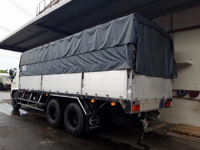 Xe tải HINO FL 3 chân 2017 (GA CƠ) thùng mui bạt bửng nhôm tải 15 tấn - Trả Góp 2