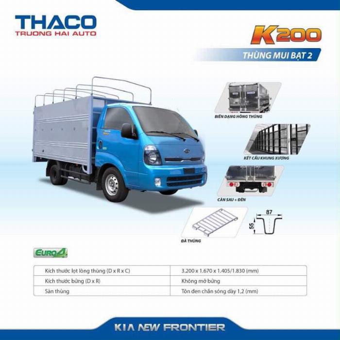 Xe tải Thaco KIA K200/K250, tải nhẹ chạy trong tp, hỗ trợ vay 75%