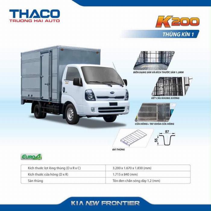 Xe tải Thaco KIA K200/K250, tải nhẹ chạy trong tp, hỗ trợ vay 75% 5