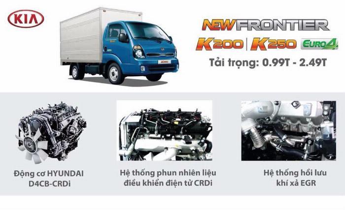 Xe tải Thaco KIA K200/K250, tải nhẹ chạy trong tp, hỗ trợ vay 75% 8