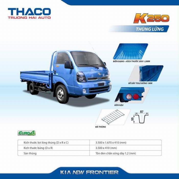 Xe tải Thaco KIA K200/K250, tải nhẹ chạy trong tp, hỗ trợ vay 75% 9