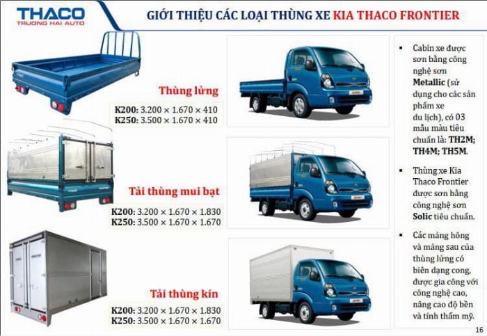 Xe tải Thaco KIA K200/K250, tải nhẹ chạy trong tp, hỗ trợ vay 75% 11