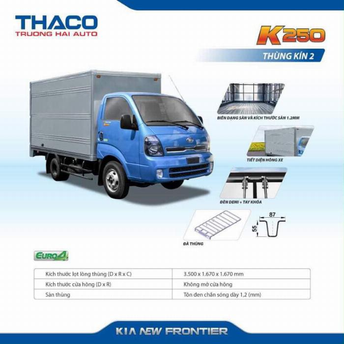 Xe tải Thaco KIA K200/K250, tải nhẹ chạy trong tp, hỗ trợ vay 75% 13