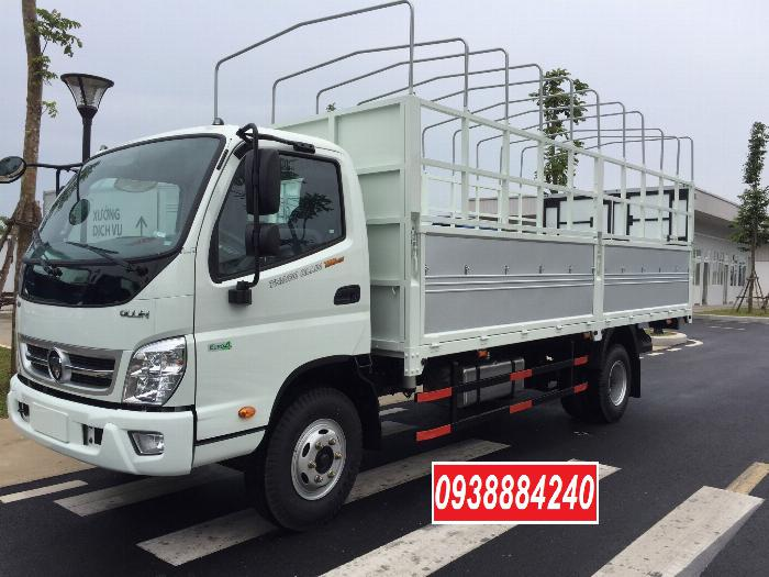 Bán trả góp xe tải Thaco Ollin700.E4 ga điện 7 tấn thùng 5.8 mét Long An Tiền Giang Bến Tre (xe trường lái) 0