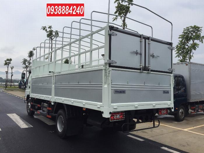 Bán trả góp xe tải Thaco Ollin700.E4 ga điện 7 tấn thùng 5.8 mét Long An Tiền Giang Bến Tre (xe trường lái) 1