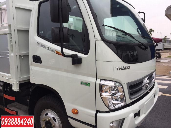 Bán trả góp xe tải Thaco Ollin700.E4 ga điện 7 tấn thùng 5.8 mét Long An Tiền Giang Bến Tre (xe trường lái) 2