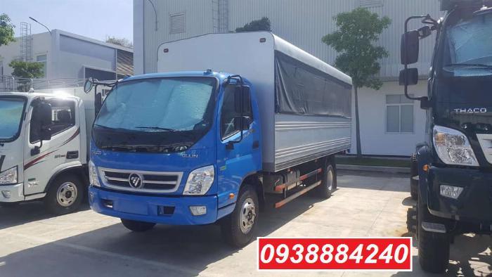 Bán trả góp xe tải Thaco Ollin700.E4 ga điện 7 tấn thùng 5.8 mét Long An Tiền Giang Bến Tre (xe trường lái) 4