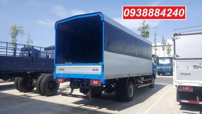 Bán trả góp xe tải Thaco Ollin700.E4 ga điện 7 tấn thùng 5.8 mét Long An Tiền Giang Bến Tre (xe trường lái) 5
