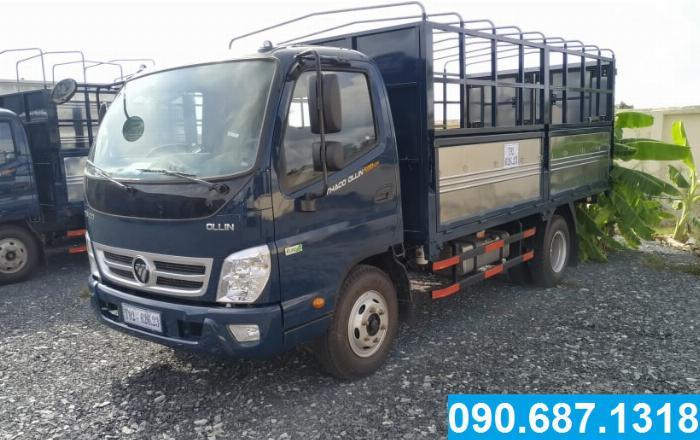 Bán xe tải Thaco Ollin500.E4 thùng dài 4m3 tải trọng 5 tấn Long An 1