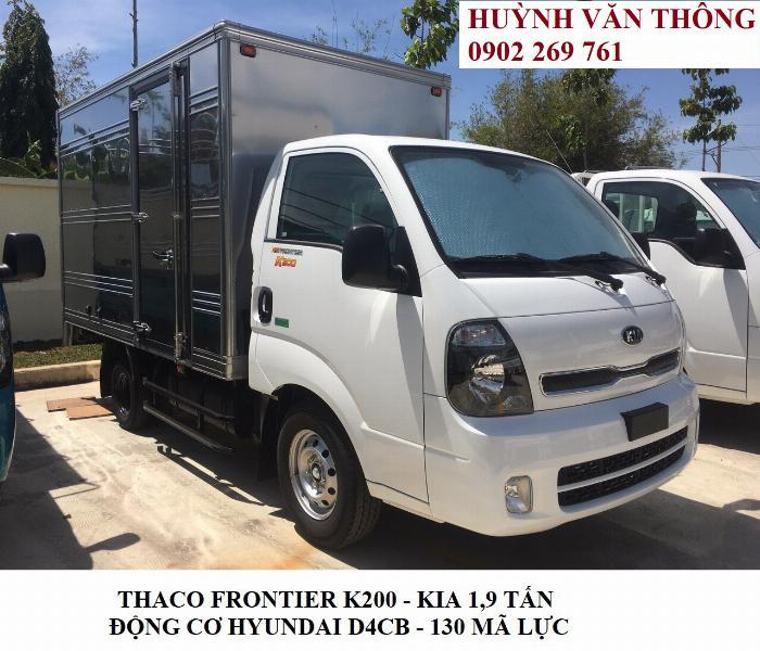 Thaco Kia K200 tải trọng 1,9 tấn, Kia K250 tải trọng 2,49 tấn.