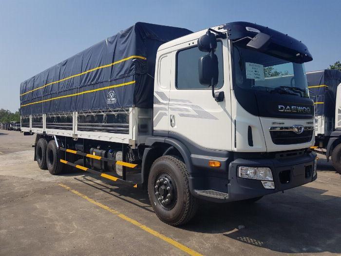 Xe tải DAEWOO 3 chân tải 15 tấn thùng mui bạt dài 9.2m - Trả Góp