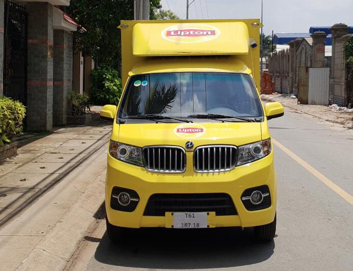 xe dongben 990kg đóng thùng cánh dơi bán hàng lưu động tại sài gòn 1