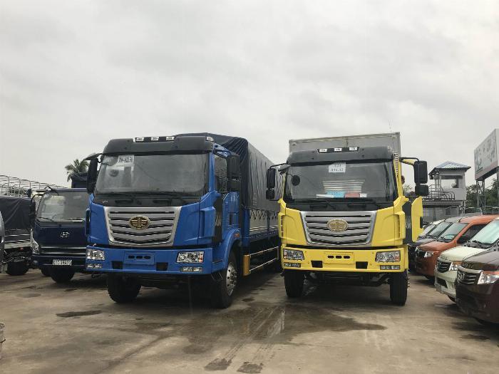 xe tải faw 7.8 tấn thùng dài 9m7-trả trước 300tr có xe 7