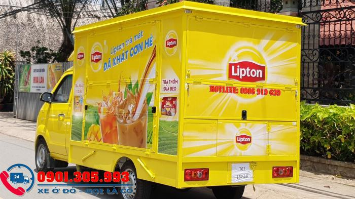 xe dongben 990kg đóng thùng cánh dơi bán hàng lưu động tại sài gòn 2