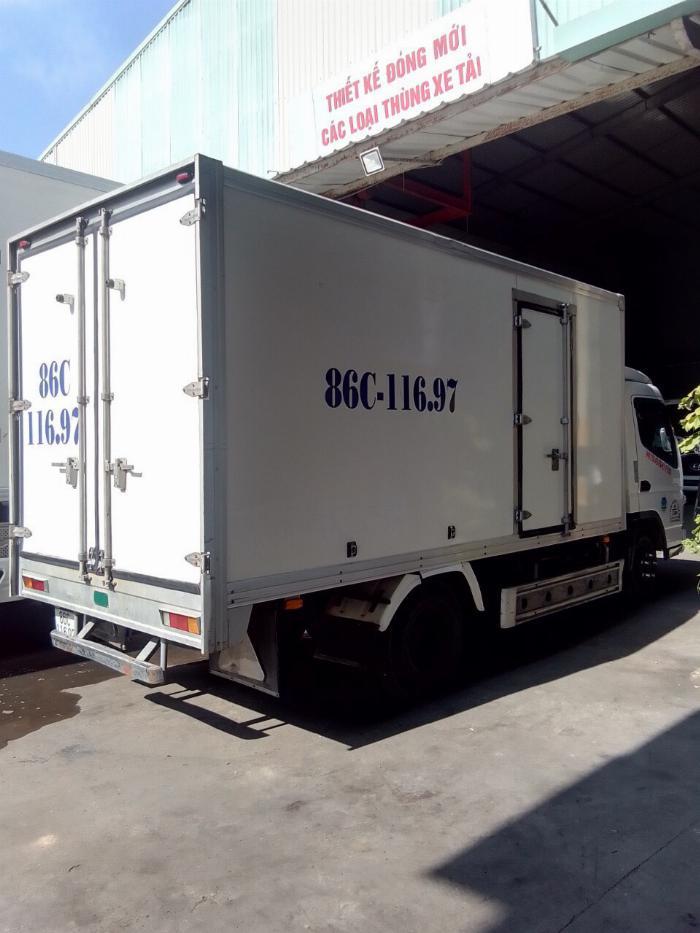 bán xe tải mitshubishi 3t5 đời 2012 thùng kín compusit 0