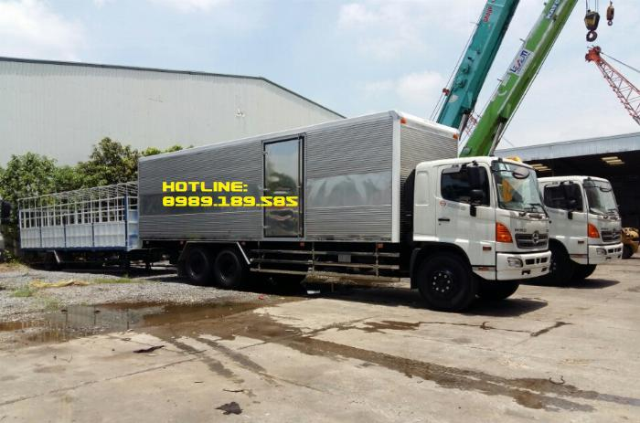 Xe tải Hino 500 FL, FM, Xe hino 15t/ hino 15 tấn mui bạt, kín 4