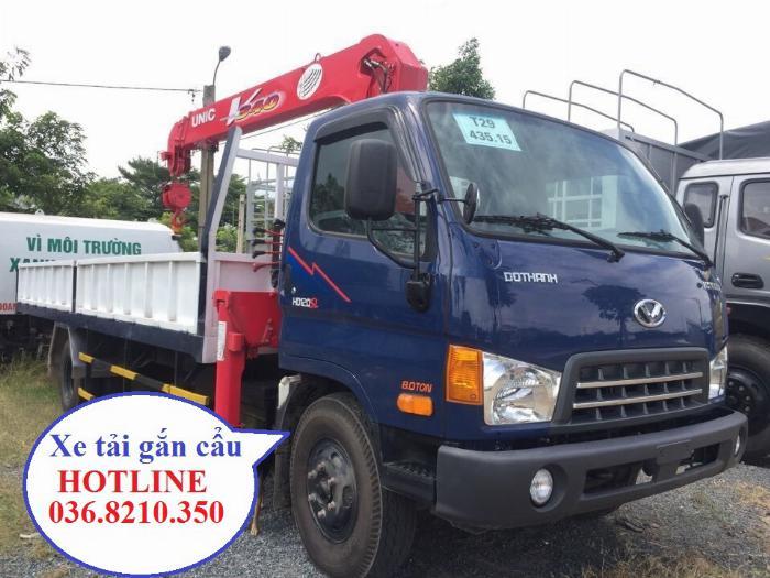 Mua bán xe cẩu Hyundai HD120SL 6.75 tấn cẩu Unic 3.5 tấn 4 khúc thùng dài 6 m 3