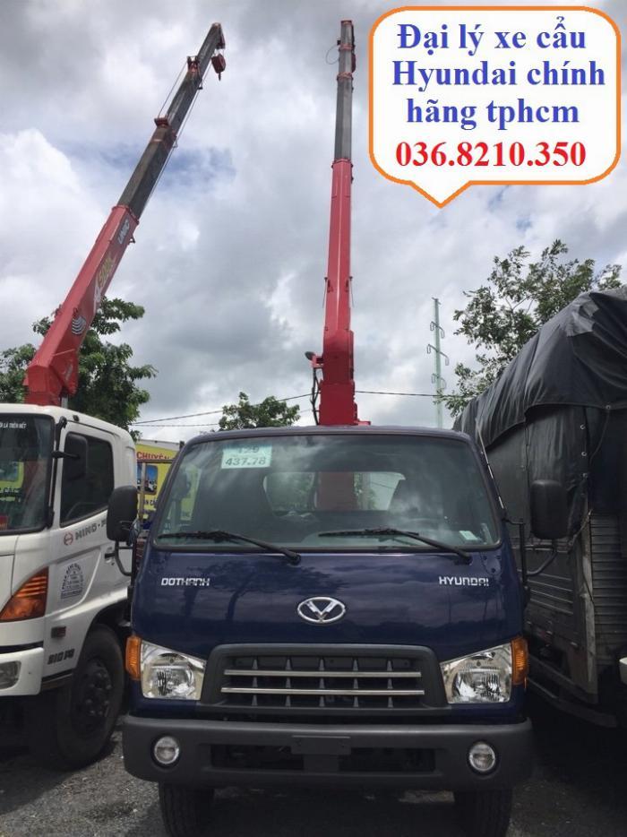 Mua bán xe cẩu Hyundai HD120SL 6.75 tấn cẩu Unic 3.5 tấn 4 khúc thùng dài 6 m 2