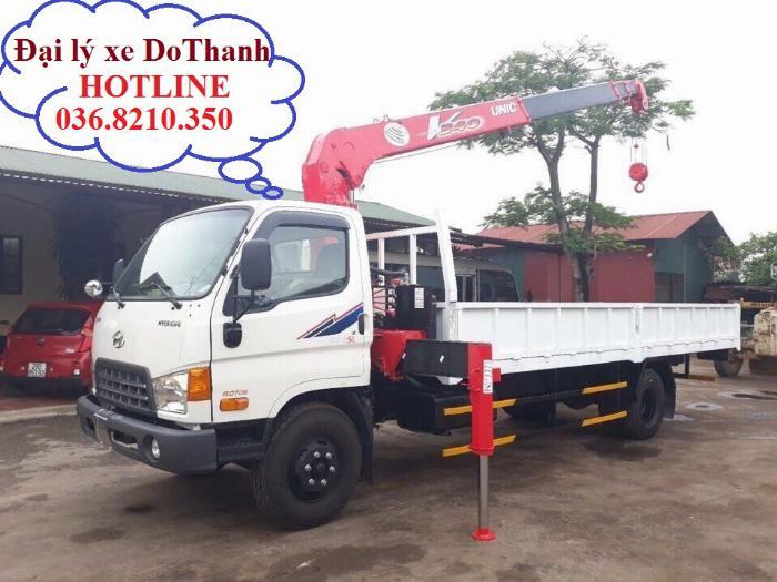 Mua bán xe cẩu Hyundai HD120SL 6.75 tấn cẩu Unic 3.5 tấn 4 khúc thùng dài 6 m 0
