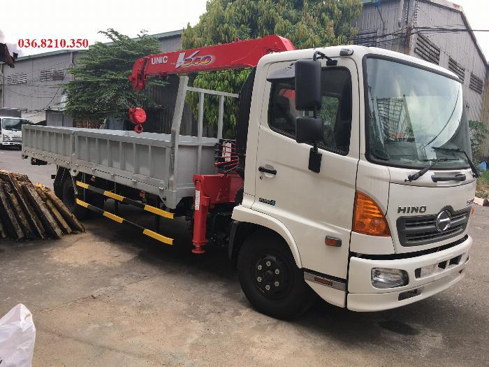 Bán xe cẩu Hino FC tổng tải 11 tấn mới 2019 - Xe tải Hino FC9JLTC  5 tấn 25 gắn cẩu Unic 3 tấn 4 đốt