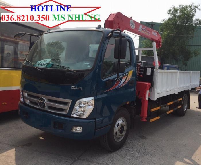 Xe tải thaco ollin700b 2 chân gắn cẩu 6 tấn 1