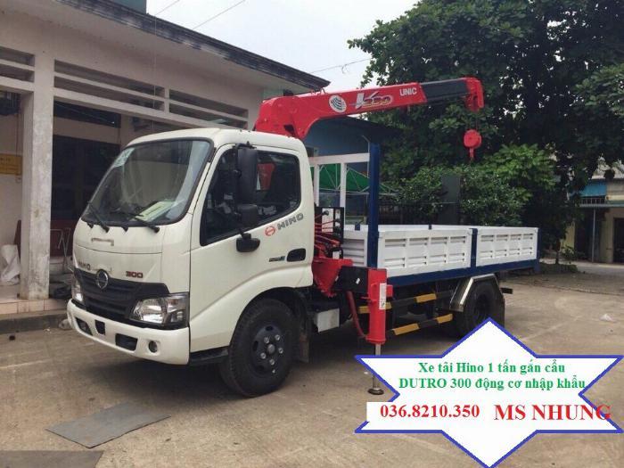Cần bán xe cẩu Hino XZU650L 1,05 tấn gắn cẩu Unic 2 tấn 5 4 khúc mới 1