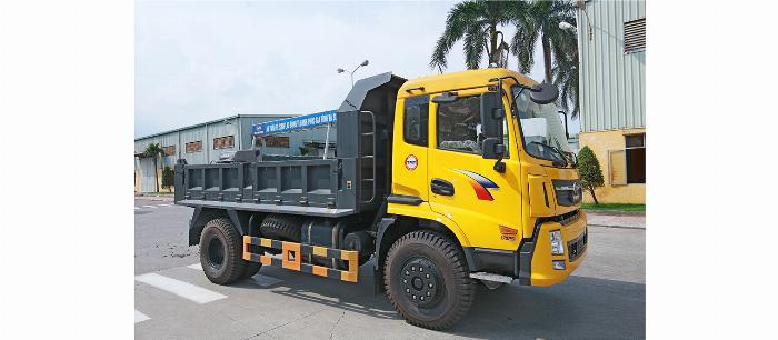 xe ben TMT CỬU LONG 8 tấn4 giảm giá trong tháng 8