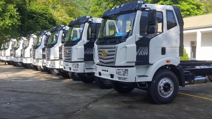 Xe tải FAW 7T25 thùng dài  9M7 chuyên chở hàng chành 1