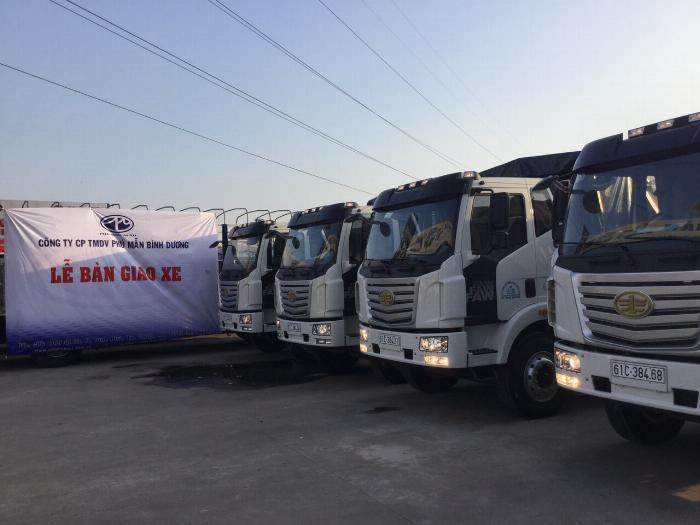 Xe tải FAW 7T25 thùng dài  9M7 chuyên chở hàng chành 2