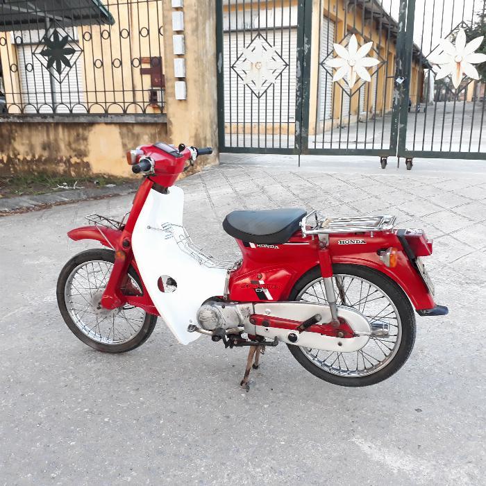 Cub DD đỏ Honda Nhật xe nguyên bản biển Hà Nội