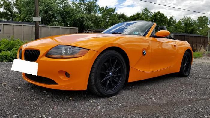 Cần bán BMW Z4, sản xuất 2007, số tự động nhập mỹ, màu cam 2
