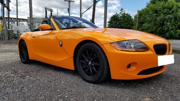 Cần bán BMW Z4, sản xuất 2007, số tự động nhập mỹ, màu cam 4