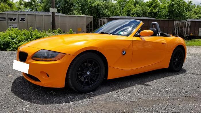 Cần bán BMW Z4, sản xuất 2007, số tự động nhập mỹ, màu cam 5