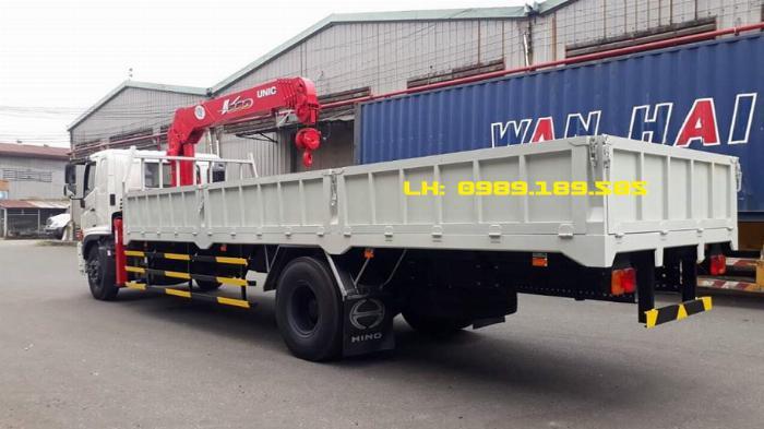 Xe tải cẩu Hino 9 tấn lắp cẩu Soosan 5 tấn 4 khúc/đoạn SCS524 2