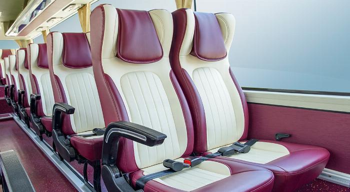 Xe khách TB85S 29 chỗ bầu hơi gánh. Mẫu mới THACO 2019