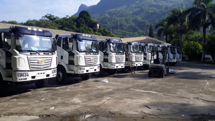 Xe tải Faw thùng dài - Ô Tô Phú Mẫn Bình Dương bán xe tải - Đại lý xe tải thùng dài 1