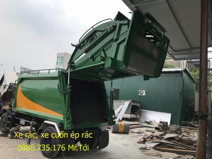 Xe rác HINO 5 khối, thùng INOX 2019 2