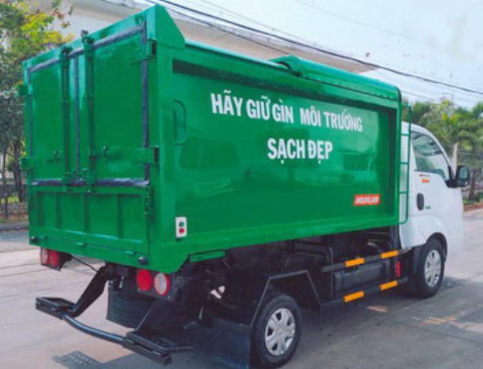 Xe chở rác thùng INOX 4.3 khối