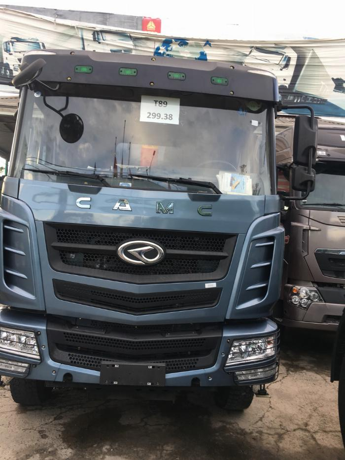 bán xe tải ben CamC 3 chân ga cơ đời 2017 mới 100%