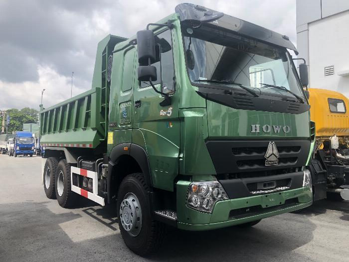 Xe Ben Howo 3 Chân HW340 Mới 340HP 2019 Thùng 10m3 Ben giữa