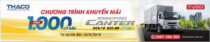 ✅ KHUYẾN MẠI ĐẶC BIỆT: TẶNG NGAY 1000 LÍT DẦU KHI MUA XE MITSUBISHI FUSO  CANTER10.4 và CANTER12.8 ÁP DỤNG TỪ NGÀY 21/08 - 30/09/2019
