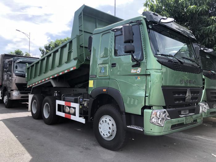 xe ben howo 3 chân 10.4 m3 ben giữa hw340 kiểu thùng giống hyundai 4