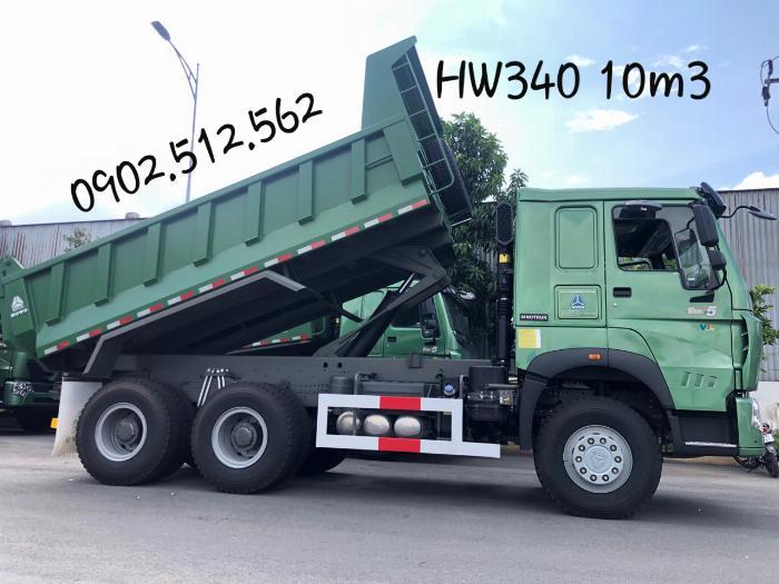 Xe Ben 3 Chân Howo 2019 Model HW340 thùng 10.3m3 tải CPTGGT 12.7 Tấn 3