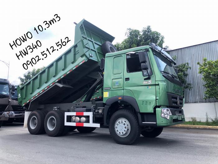 Xe Ben Howo 2019 Mới HW340 ben giữa thùng 10.5m3