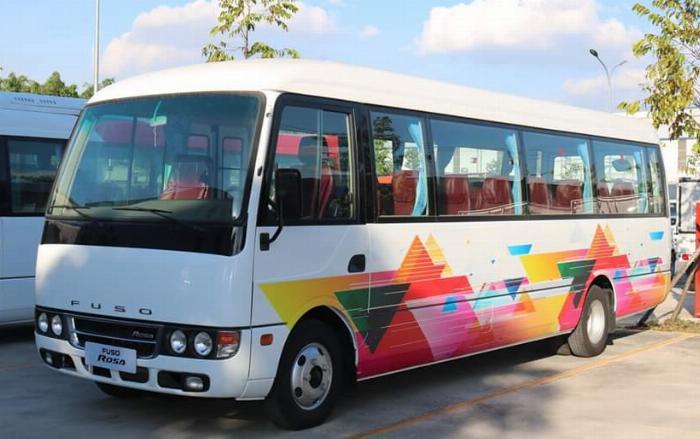 Fuso Rosa 22 chỗ , 29 chỗ Động cơ Mitsubishi / Dòng xe chuyên chạy Tour du lịch - phục vụ đưa đón học sinh, công nhân viên/ Hotline 0938 900 846