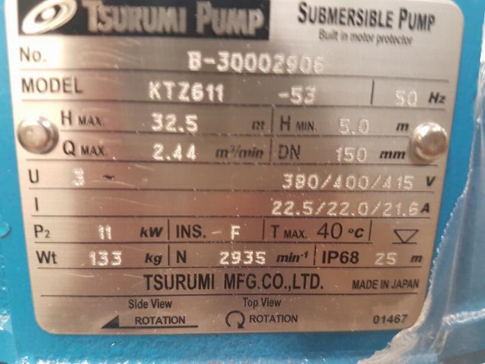 0961614608- Báo giá bơm chìm nước thải ktz411 (11kw) giá cả phải chăng 0