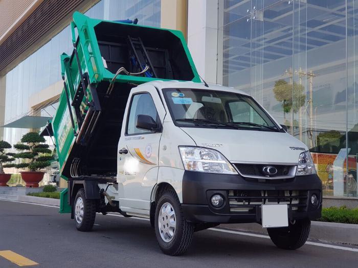 Xe Towner990 thu gom rác 2.65 khối, nhỏ gọn, tiện lợi.