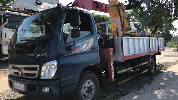 Thông số kỹ thuật Xe tải cẩu foton thaco ollin700c tải trọng 6100kg thùng 4m88